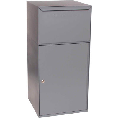 dVault Collection Vault Mailbox and Parcel Drop DVCS0023 - Free Standing - Front Access - Gray