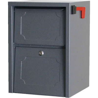 dVault Weekend Away Secure Mailbox with Vault DVJR0060 - Front Access - Gray