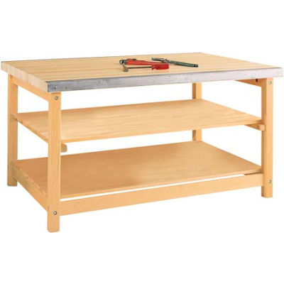 """Diversified Woodcrafts 60""""W x 40""""D Woodworking Bench, Maple"""