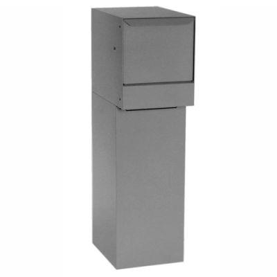 dVault Thru-Wall Package Drop Vault Plus DVWM0062SA w/Bottom Hold Rear Access - Gray