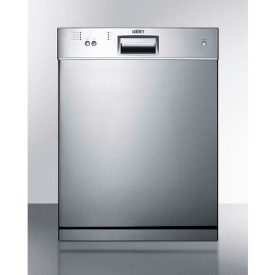 "Summit DW2435SSADA - Dishwasher, Energy Star, 12 Place Settings, 23-1/2""W x 22-1/2""D x 32-1/4""H, S/S"