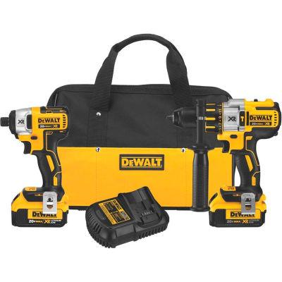 DeWALT DCK299M2 20V MAX XR Li-Ion Brushless Premium Hammer Drill & Impact Driver Combo Kit