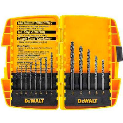 """DeWALT® Drill Bit Set, DW1163, Black Oxide, 13 Pieces, 1/16"""" - 1/4"""" Split Point Bits"""
