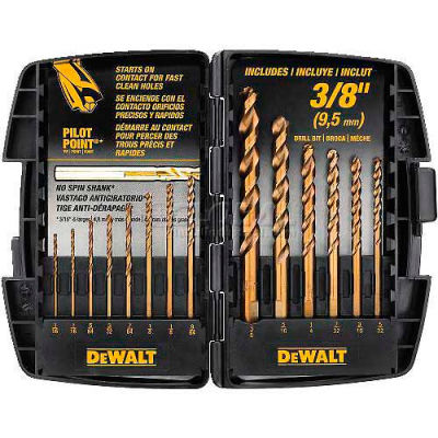 "DeWALT® DWA1240 Cobalt Pilot Point® 14 Piece Drill Bit Set to 3/8"""
