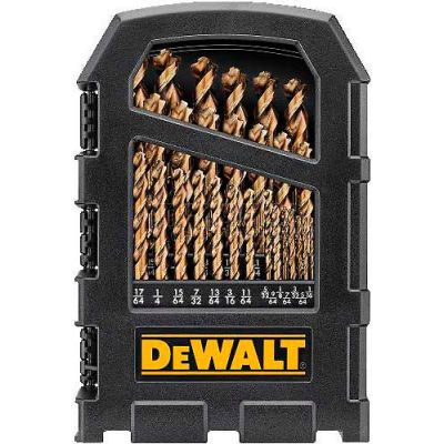 "DeWALT® DWA1269, Cobalt Pilot Point® Drill Bit Set up to 1/2"", 29 Piece Set"
