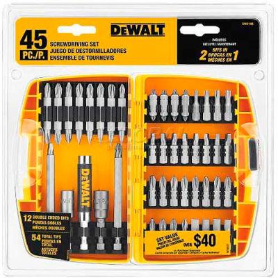 DeWALT® Screwdriving Set w/Toughcase®, DW2166, 45 Pieces