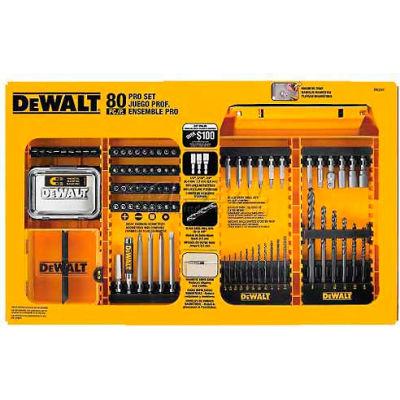 DeWALT® Pro Drilling/Driving Set DWAMF1280, 80 Pieces