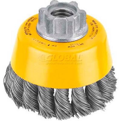 "DeWalt DW4910 HP Wire Cup Brush 3"" x 5/8-11"" .020"" Carbon Knotted Wire  Carbon Steel - Pkg Qty 5"