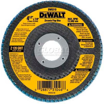 """DeWalt DW8311 Flap Disc Type 29 4-1/2"""" x 5/8-11"""" 36 Grit Zirconia - Pkg Qty 5"""