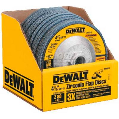 """DeWalt DW8313 Flap Disc Type 29 4-1/2"""" x 5/8-11"""" 80 Grit  Zirconia - Pkg Qty 5"""