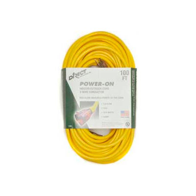 Direct Wire 12/3 Xcord Yellow 100' LIT