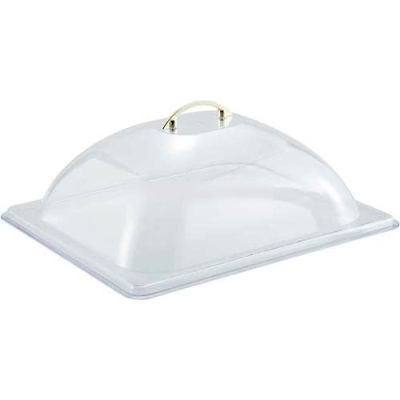 Winco C-DP2 Half-Size Size Dome Cover, Polycarbonate - Pkg Qty 24