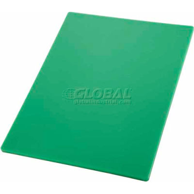 "Winco CBGR-1520 Cutting Board, 15""L, 20""W, 1/2""H, Green - Pkg Qty 6"