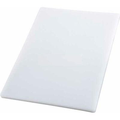 """Winco CBH-1520 Cutting Board, 15""""L, 20""""W, 3/4""""H, White - Pkg Qty 6"""