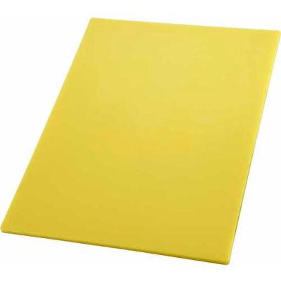"""Winco CBYL-1218 Cutting Board, 12""""L, 18""""W, 1/2""""H, Yellow - Pkg Qty 6"""