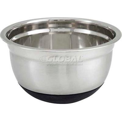 "Winco MXRU-800 Mixing Bowl W/ Silicone Base, 8 Qt, 11-13/16""D - Pkg Qty 6"
