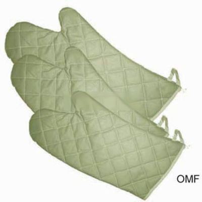 Winco OMF-15 Fire Resistance Oven Mitts - Pkg Qty 12