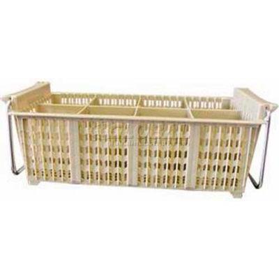 Winco PCB-8 -  Flatware Basket with Handle, 8 Compartments, Beige, Half Size - Pkg Qty 12