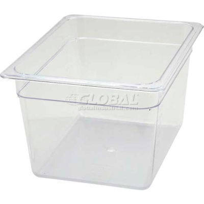 """Winco SP7208 1/2-Size Food Pan, 8""""H, -40°F to 210°F, Polycarbonate - Pkg Qty 6"""