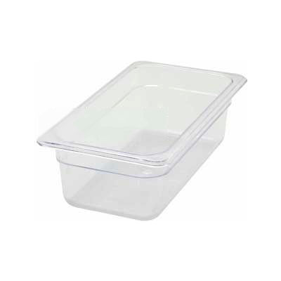 """Winco SP7304 1/3-Size Food Pan, 4""""H, -40°F to 210°F, Polycarbonate - Pkg Qty 12"""