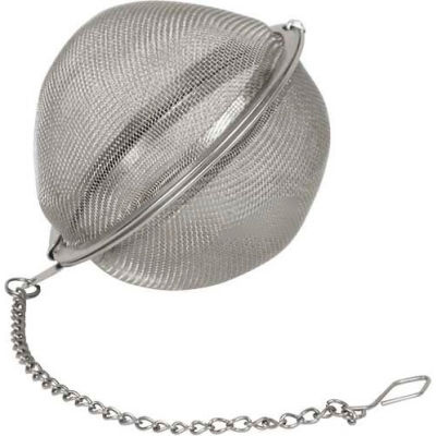 "Winco STB-7 - Tea Infuser Ball W/ Chain, 2-3/4""D, Stainless Steel - Pkg Qty 12"