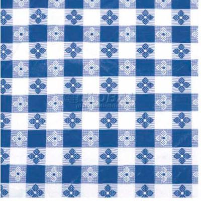 "Winco TBCO-70G Checkered Table Cloth , 70""L, 52""W, PVC W/ Flannel Backing, Green & White - Pkg Qty 24"