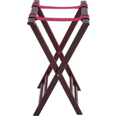 """Winco TR-34W - Folding Tray Stand, 33"""" H, Wood"""