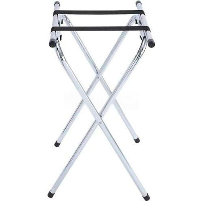 "Winco TSY-1A Folding Tray Stand, 31"" H, Chrome - Pkg Qty 6"