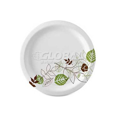 """Dixie® DXESXP10PATHPK, Pathways Paper Plates, 10-1/8"""" Dia., Green/Burg/Wht, 125/Pack"""