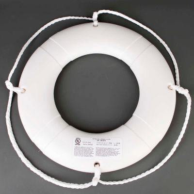 """Datrex DX024WD Life Ring w/o Tape, USCG, White, 24"""""""