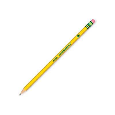 Dixon® Presharpened HB #2 Pencil With Latex-Free Eraser, Yellow Barrel, Dozen