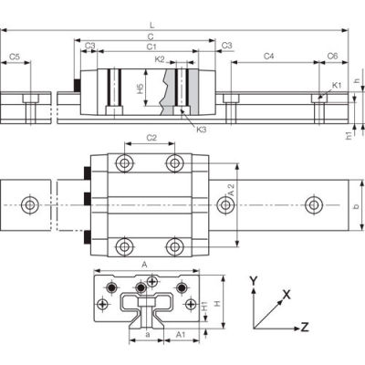 IGUS TS-01-20-500 500mm DryLin-T Hard Anodized Aluminum Rail - Size 20