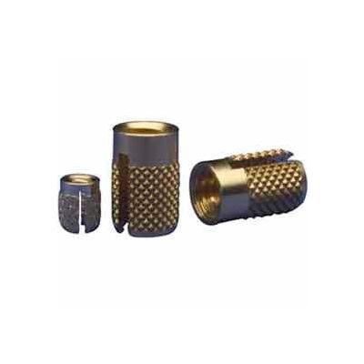 6-32 Flush Press Insert - Brass - 240-006-Br - Pkg Qty 50