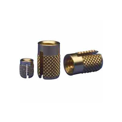 8-32 Flush Press Insert - Brass - 240-008-Br - Pkg Qty 50