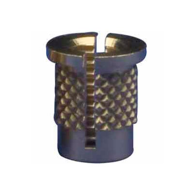 8-32 Reverse Slot Press Insert - Brass - 260-008-Rs - Pkg Qty 50