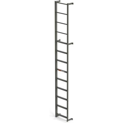 EGA Steel Side Step Dock Ladder, 9 Step, Gray - MDS9