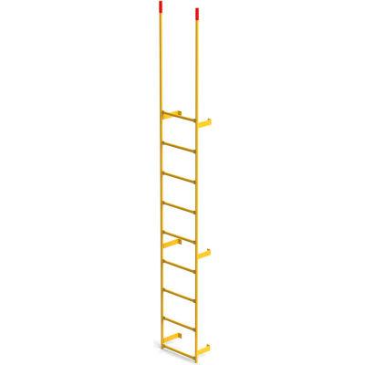 EGA Steel Round Tube Dock Ladder, 9 Step, Yellow - MRT-DT9