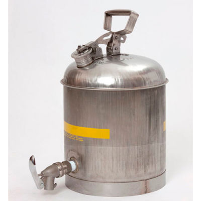 Eagle Faucet Cans Stainless - 5 Gallons, 1327