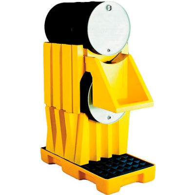 Eagle 1608 Drum Stacker Poly Shelf - Yellow