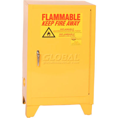Eagle Flammable Liquid Tower™ Safety Cabinet with Self Close - 12 Gallon