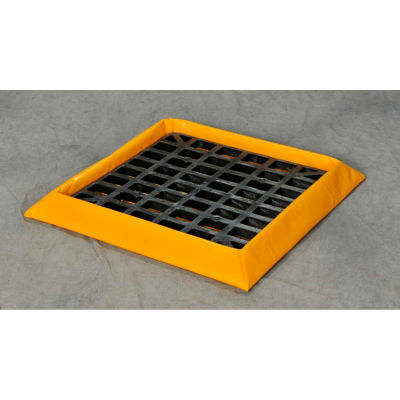 """Eagle 1 Drum SpillNEST™ Utility Tray T8101G with Grate 32-1/4"""" x 32-1/4"""" x 3"""" - 10 Gallon Cap."""