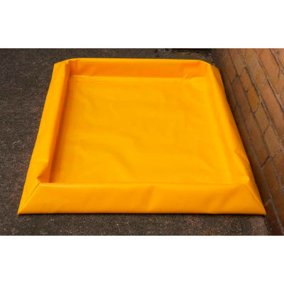 """Eagle 4 Drum SpillNEST™ Utility Tray T8103G with Grate 57-3/4"""" x 57-3/4"""" x 3"""" - 30 Gallon Cap."""