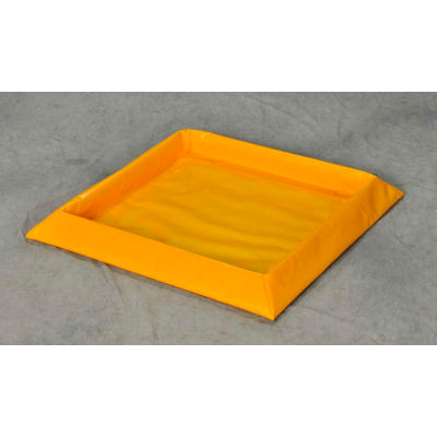 "Eagle 8 Drum SpillNEST™ Utility Tray T8106 without Grate 57-1/2"" x 108-1/2"" x 3"" 60 Gallon Cap"