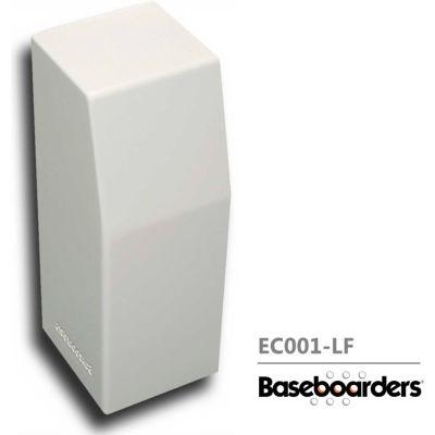 Baseboarders® Premium Series Steel Easy Slip-on Baseboard Left Side CLOSED Endcap, White