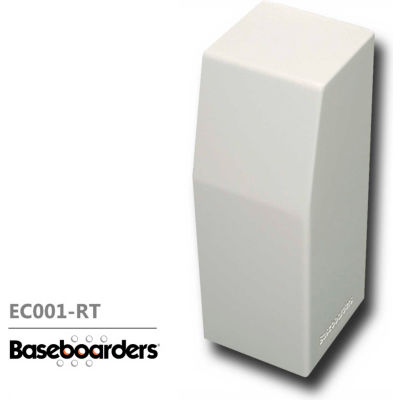 Baseboarders® Premium Series Steel Easy Slip-on Baseboard Right Side CLOSED Endcap, White