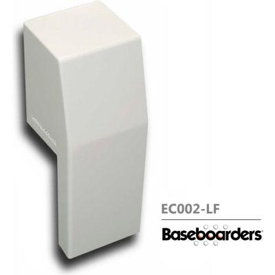 Baseboarders® Premium Series Steel Easy Slip-on Baseboard Left Side OPEN Endcap, White