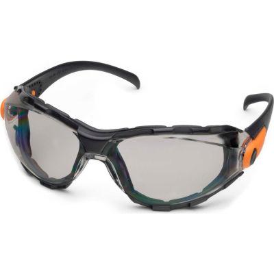 Elvex® Go-Specs™ Foam Lined Spectacle, Gray Anti-Fog Lens, Black Frame, 1 Pair