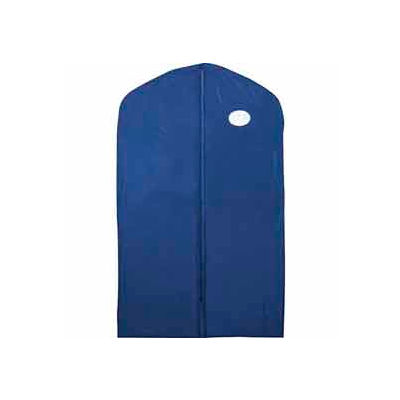 "24"" X 40"", 3 Gauge Vinyl Taffeta W/Window & Zipper - Blue W/Blue Trim - Pkg Qty 100"