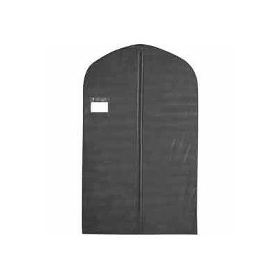 "24"" X 40"", 3 Gauge Vinyl Taffeta W/Window, Pocket & Zipper - Black W/Black Trim - Pkg Qty 100"
