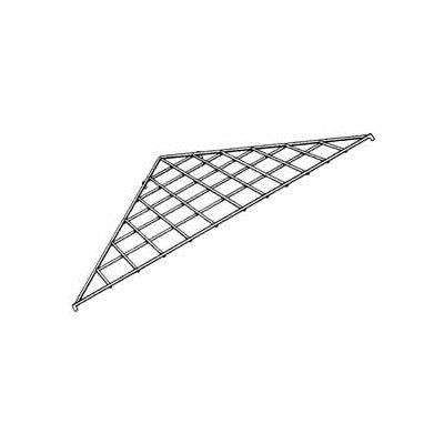 "24"" X 24"" X 34-1/2"" Triangular Shelf - Black - Pkg Qty 10"
